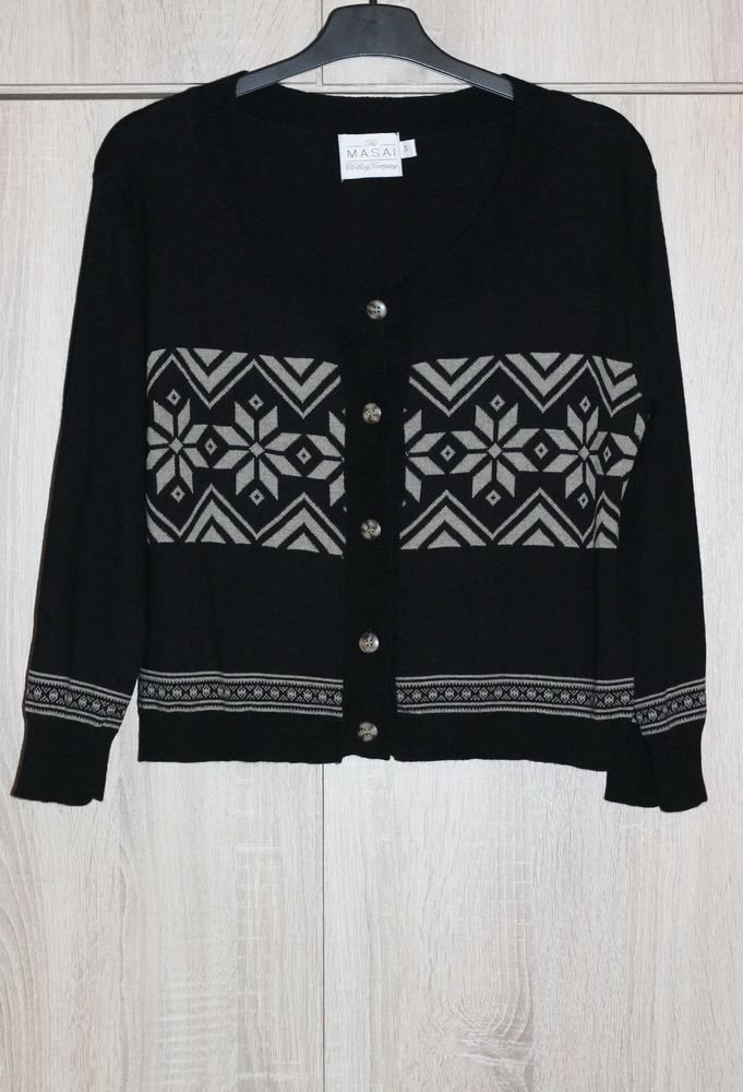 laest technology am besten auswählen attraktive Mode The MASAI Clothing Company Cardigans Black Ethnic Pattern 3 ...