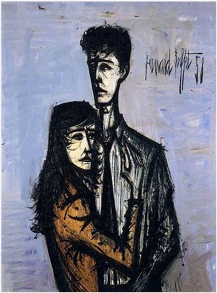 Bernard Buffet 1958 'Le Couple'