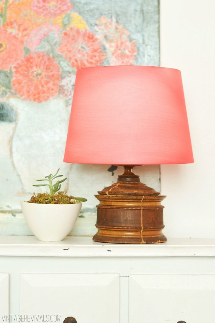 Cover a boring lampshade with nylons!!!