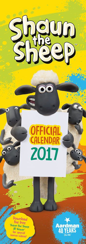 New Official Shaun the Sheep 2017 Calendar available with FREE UK P&P (plus worldwide delivery available) at http://bit.ly/TVCals2017