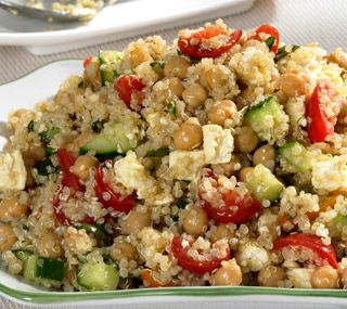 Thrifty Foods - Recipe - Quinoa and Chickpea Salad.. But sub cilantro for basil
