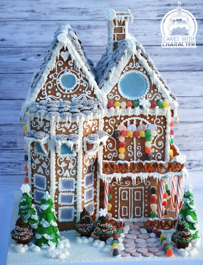 Gingerbread house by momschap cakes cake decorating for Gingerbread house inspiration