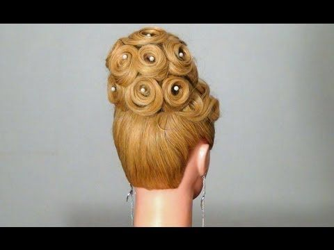 Вечерняя, свадебная прическа. Wedding prom hairstyles for long hair. - YouTube