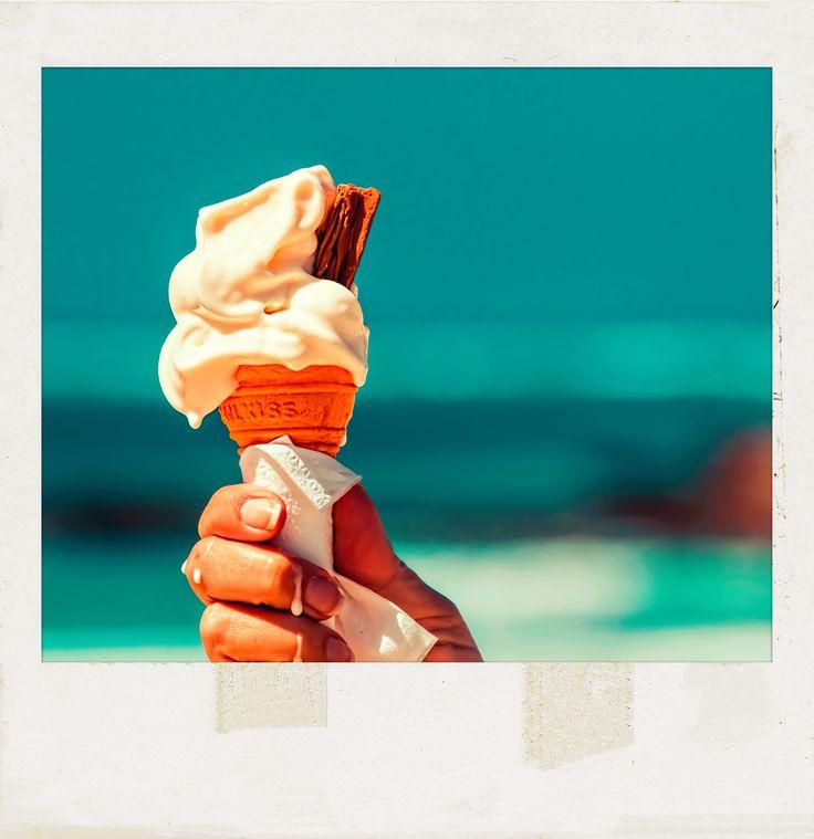 #IceCream at the #Beach. #PolaroidFx #Polaroid #Frame #Filter #Food #Sweet #Yummy