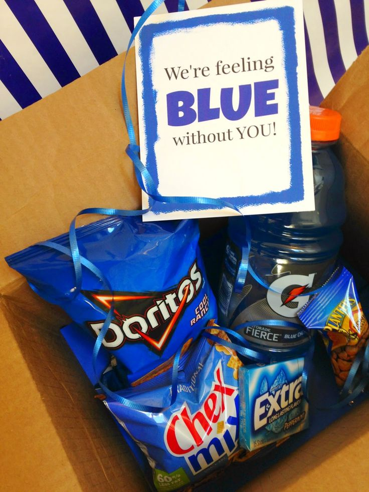 michelle paige: Got the Blues Gift for College Students with Printable
