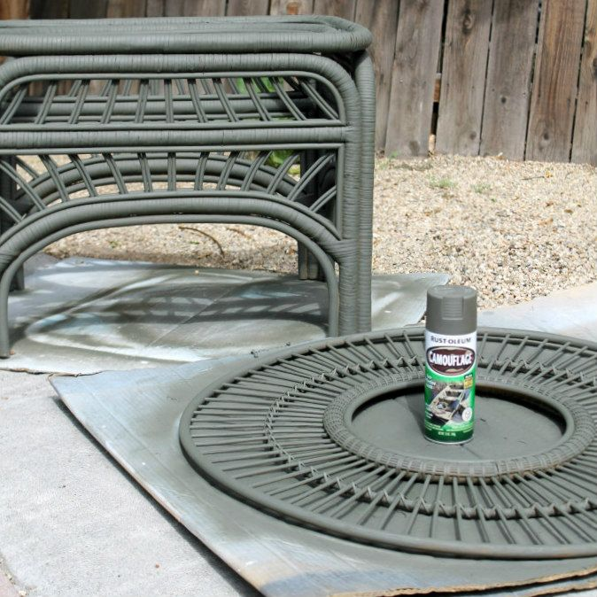 Wicker Coffee Table Base: New Bench In Entryway How To Paint Rattan And Bamboo