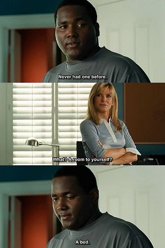 The Blind Side no matter how many times I see this movie, this scene makes me cry every time..