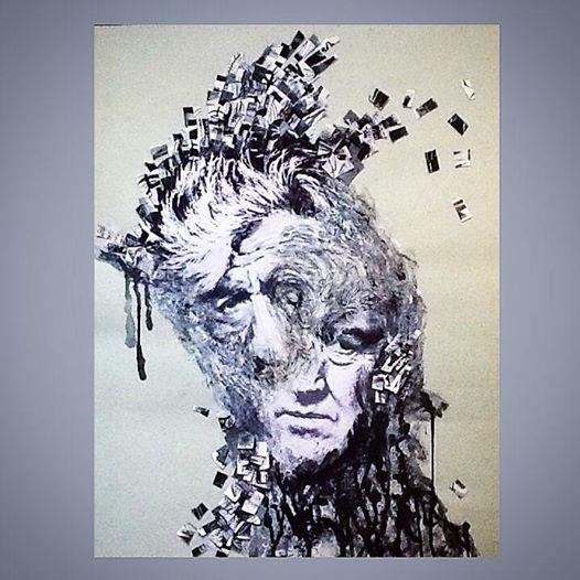 David Keith Lynch ( 500x450mm, paper, ink, gouache, acrylic )