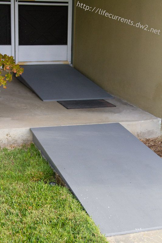 Wheelchair Accessible Ramps: we made our own for our house. Take a look at how we did it.   |  Life Currents