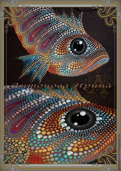 """Купить Ежедневник-""""Рыба"""" - коричневый, ежедневник, ежедневник в подарок, для…"""