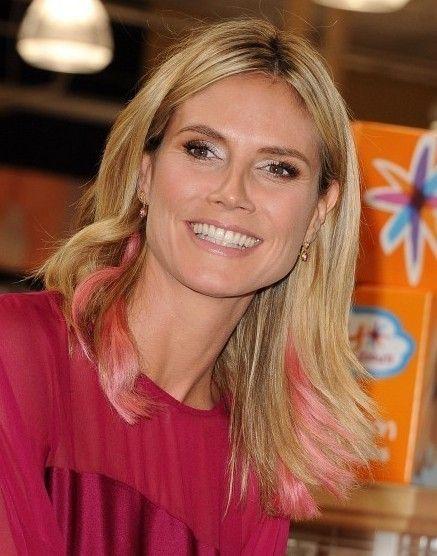Heidi Klum Fácil Medio Peinado para Cabello liso //  #cabello #fácil #Heidi #Klum #liso #Medio #para #Peinado