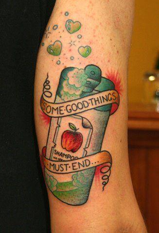 Apple Shampoo Tattoo. blink-182. haha this is freakin amazing.