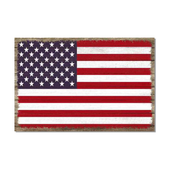 United States Flag America Wood Sign Rustic Wall Décor Gift Etsy Rustic Wall Decor Wood Signs Rustic Walls