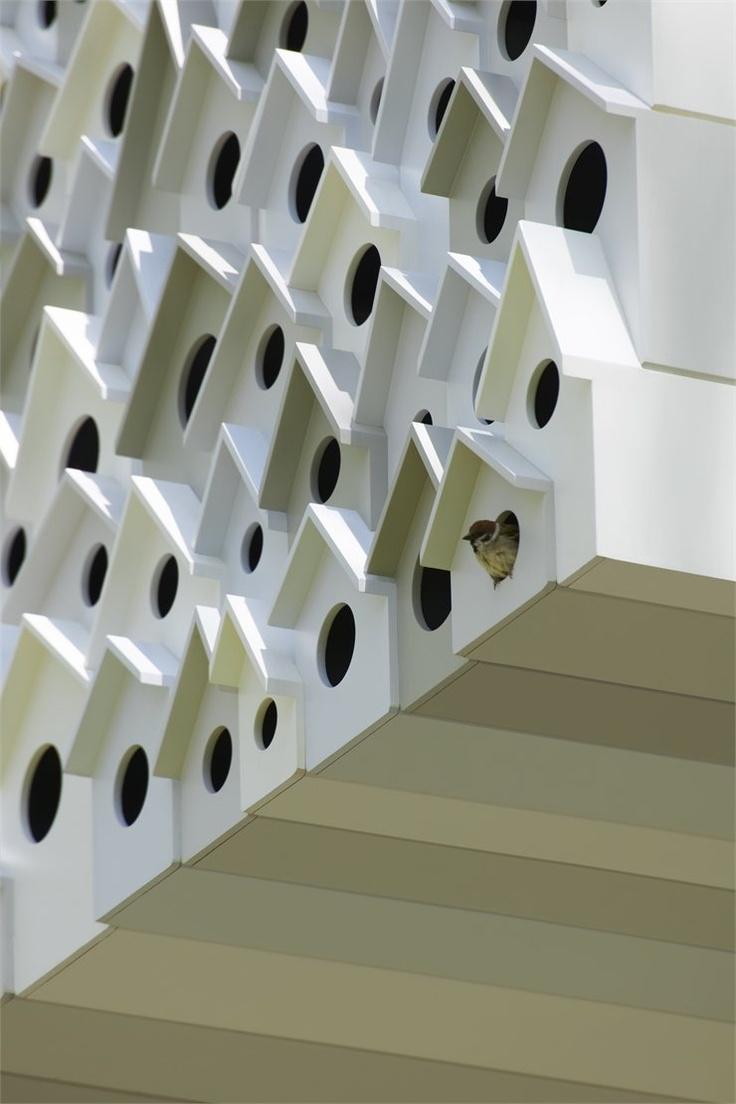 Bird Apartment, Komoro City, 2012 by Nendo #treehouse #architecture #design #bird #japan #nest: Birdhouses, Small Places, Big Birds, Treehouse, Birds House, Trees House, Architecture, Birds Apartment, Design