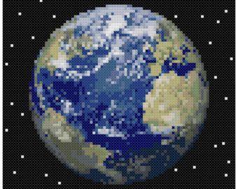 PDF Cross Stitch pattern 0059.Moon INSTANT DOWNLOAD par PIXcross