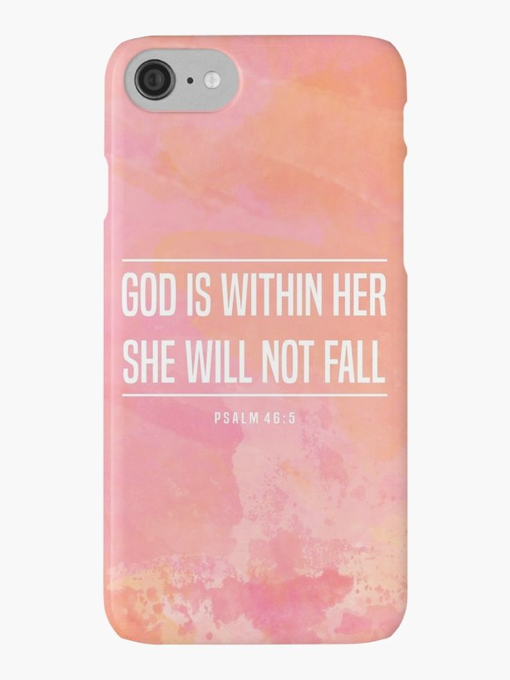 God is within her she will not fall Christian iPhone Case | We offer Cases for iPhone 4/4s - 5c - SE/5/5s - 6/6s/6Plus/6sPlus - 7/7Plus and Samsung Galaxy s3/s4/s5/s6/s6Edge/s6Edge Plus/s7/s7Edge | Visit Bethel Store for thousands of different designs available as T-Shirts - Prints -Home Decor - iPhone Cases and so much more!  With love Davide & Chiara ♥  Our Store --> rdbl.co/2qvdsy8