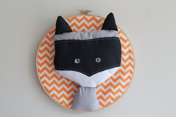 Fun Raccoon Trophy Head Wall Art by GloriousBandits on Etsy, $40.00 (NZD). Perfect for the home, workspace or nursery.