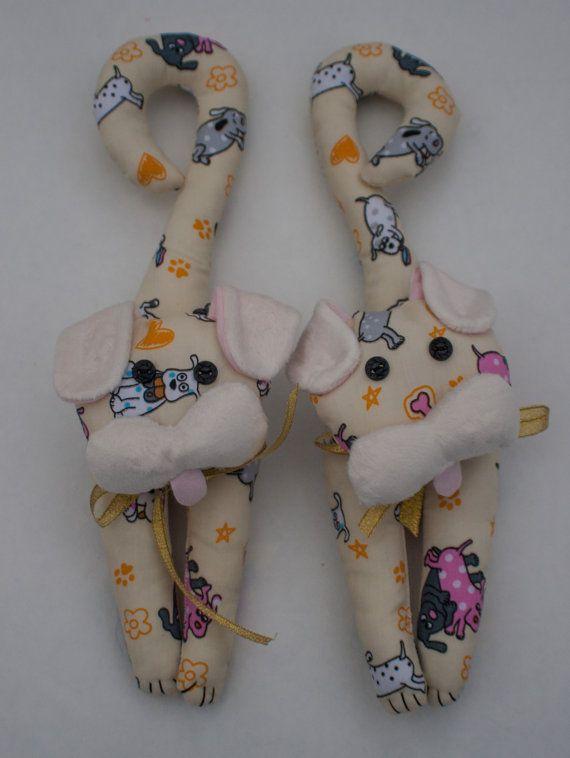 dog puppy door hangers kids bedroom nursery by MissSaturnDesigns