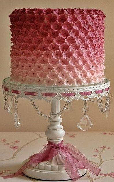 Beautiful Pink Wedding Cake Design