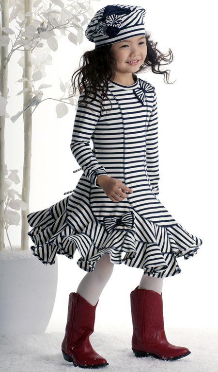 One Good Thread - Kate Mack - Poodle In Paris Stripe Dress - Navy Blue, $70.00 (http://www.onegoodthread.com/kate-mack-poodle-in-paris-stripe-dress-navy-blue/)