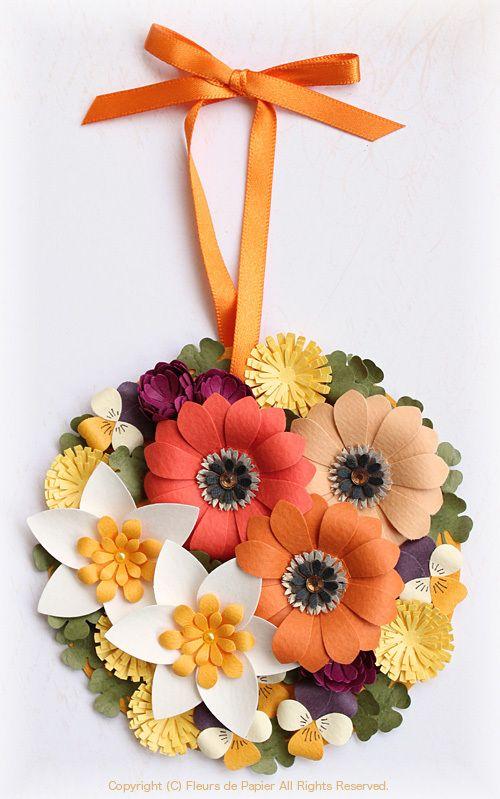 「クラフトパンチのお花でオーナメントカード」の画像 Paper Flowers 〜クラフト…  Ameba (アメーバ)