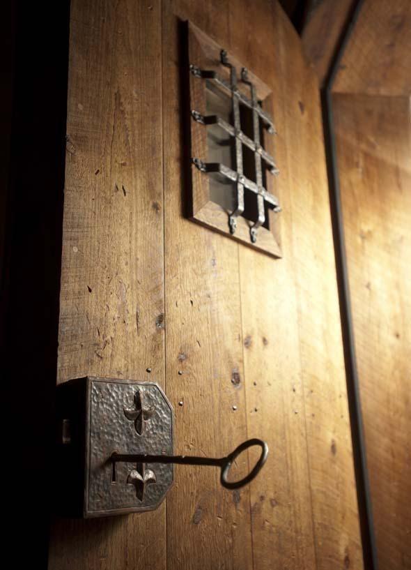 "The ""castle door"" through the cheese cave entryway"