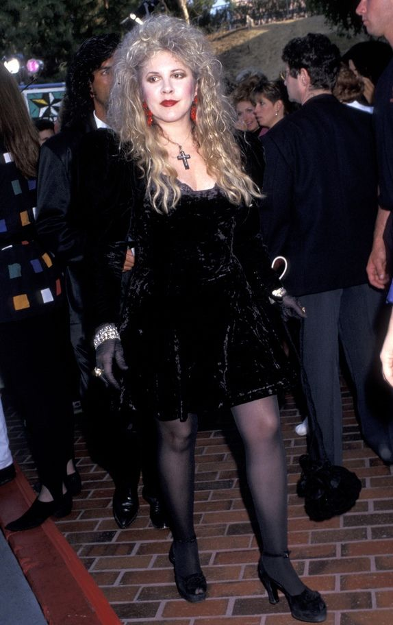 Stevie  ~ ☆♥❤♥☆ ~   stepping out in strappy sandals, looking beautiful and buxom, loaded with bling  ~  http://www.nytimes.com/1997/11/25/arts/after-the-show-with-stevie-nicks-going-her-own-way-but-slowly-this-time.html