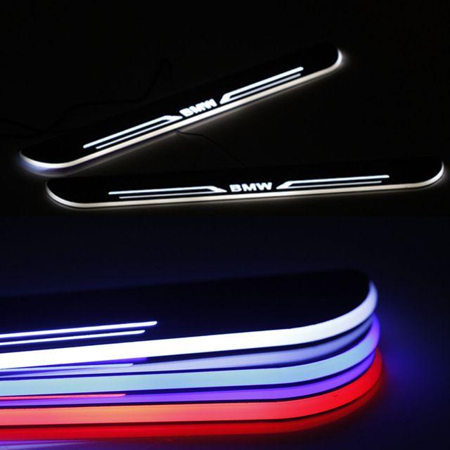 Автомобиль из светодиодов движущаяся дверь накладки подоконников накладка свет с подсветкой пластины из светодиодов дверь любезно логотип света для BMW 5 серии F30 GT