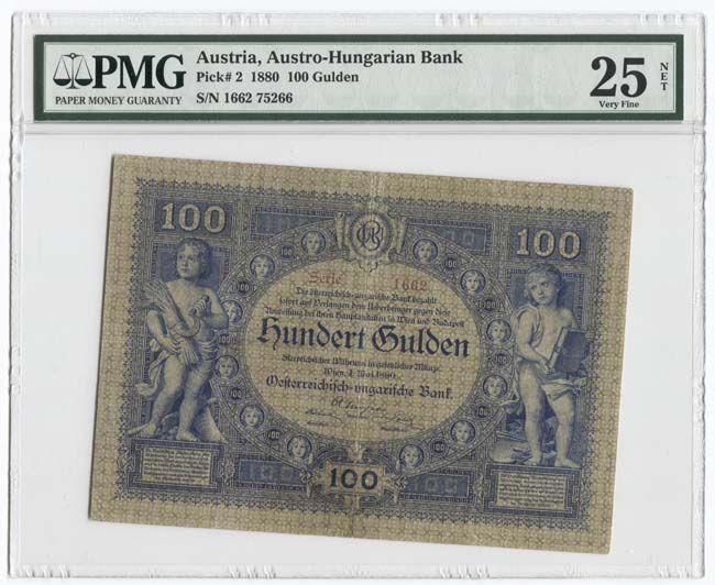 100 Gulden 1880 Allegorische Darstellungen Osterreich Geld