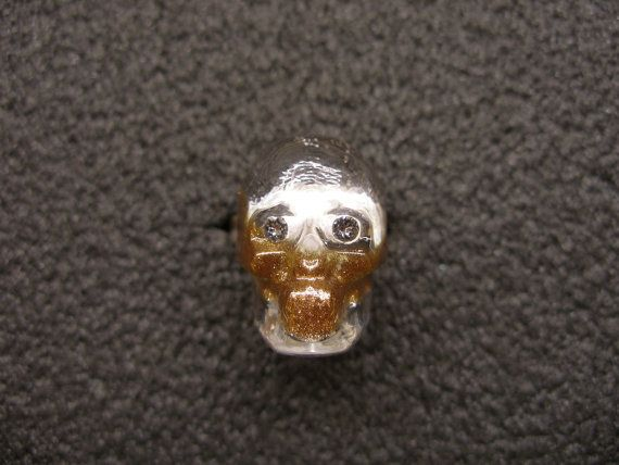 Murano Glass skull ring by GLBriflessi on Etsy, $30.00