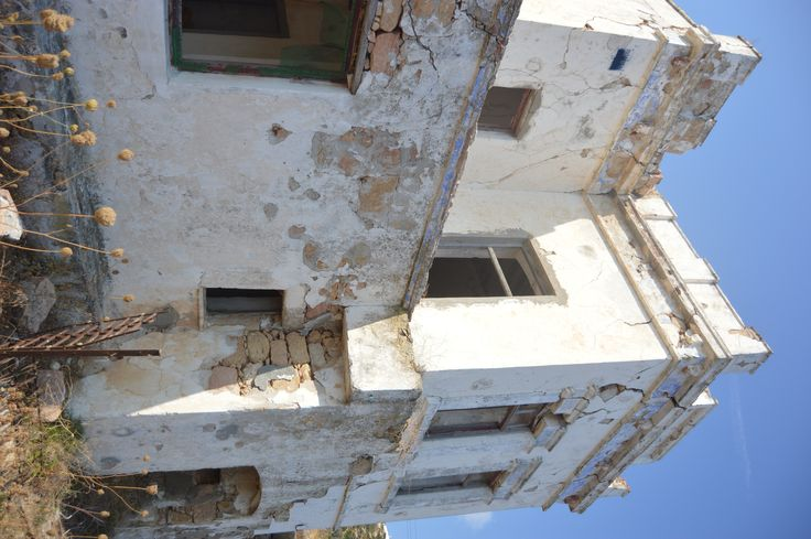 Abandoned mansion on the west side of Milos (near Agia Marina), Greece