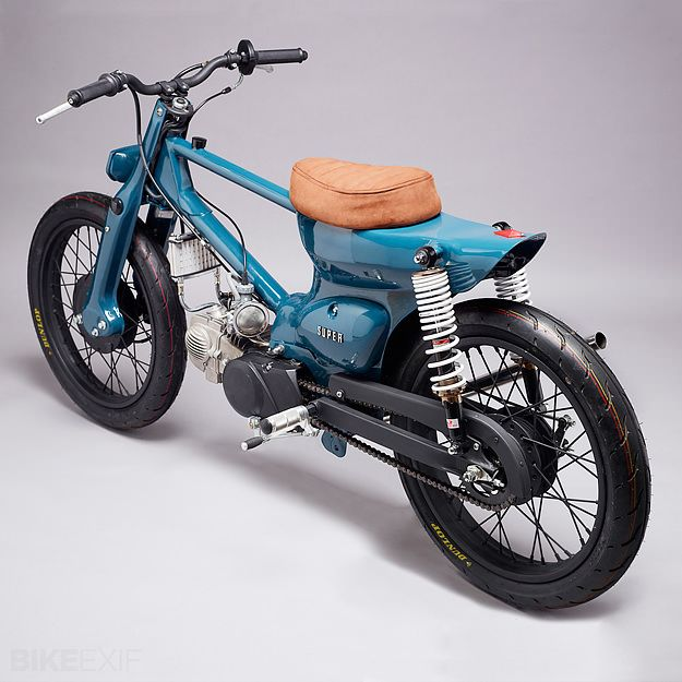 Awesome!  Super Motor Company's take on the Honda Super Cub.