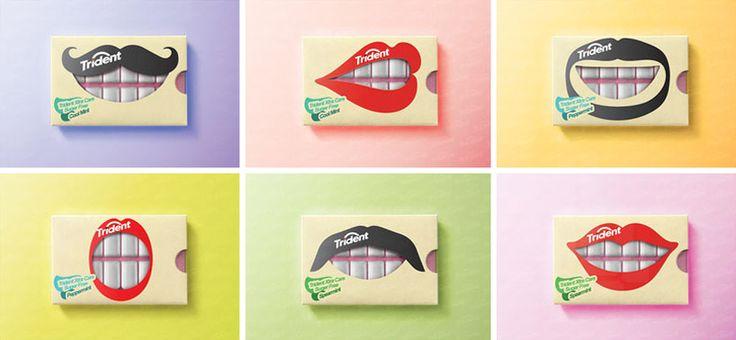 O conceito criativo para a embalagem de Trident por Hani DouajiZupi
