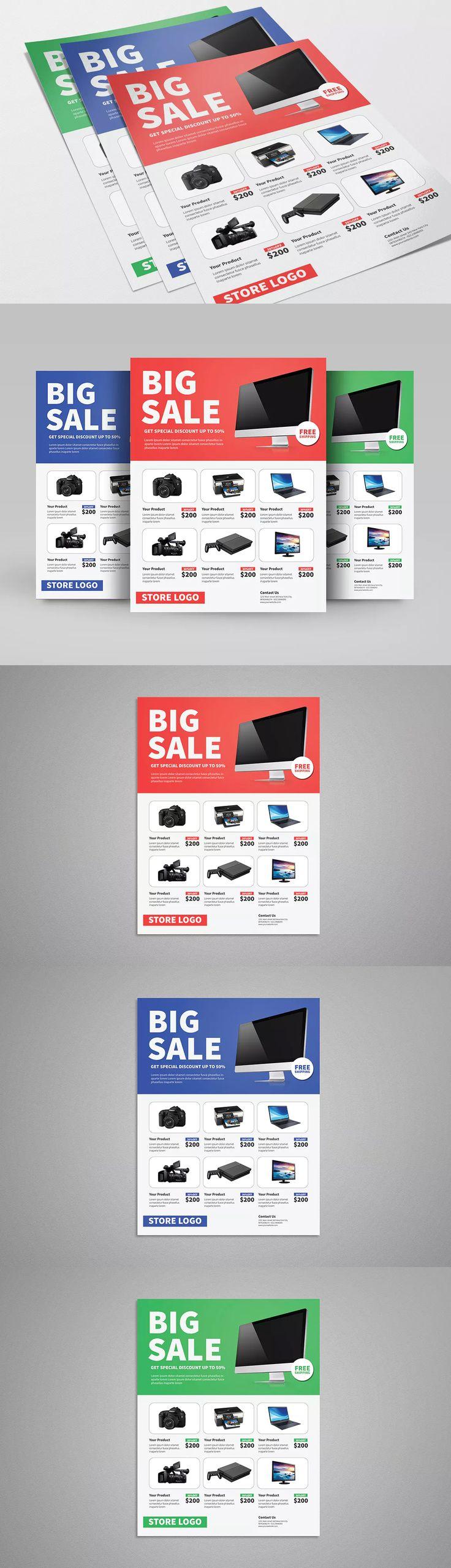 Clean Sale Flyer Template PSD