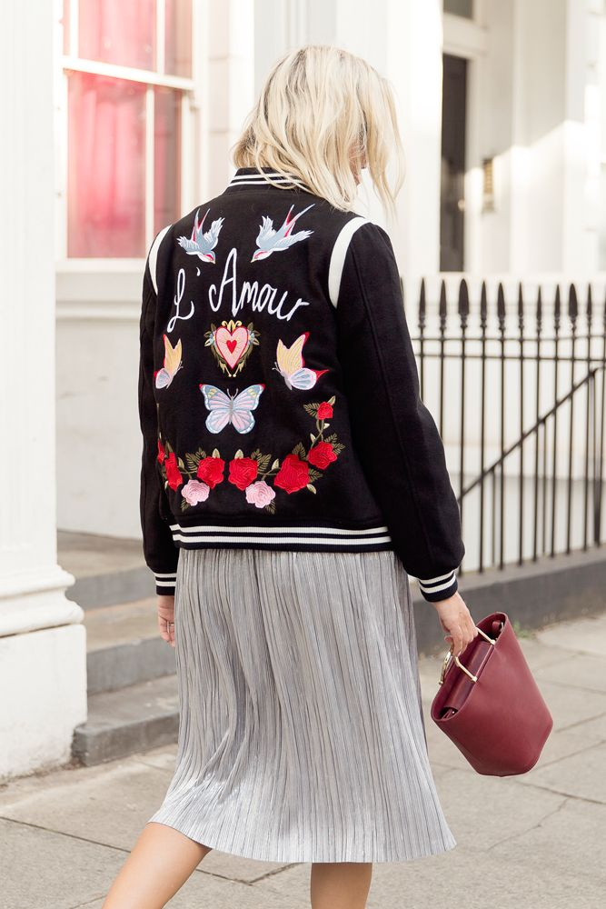 Jacket: £44.99, New Look (sold out).  Skirt: Marks & Spencer (old but buy similar from Zara here ). Bag: And Other Stories (bough...