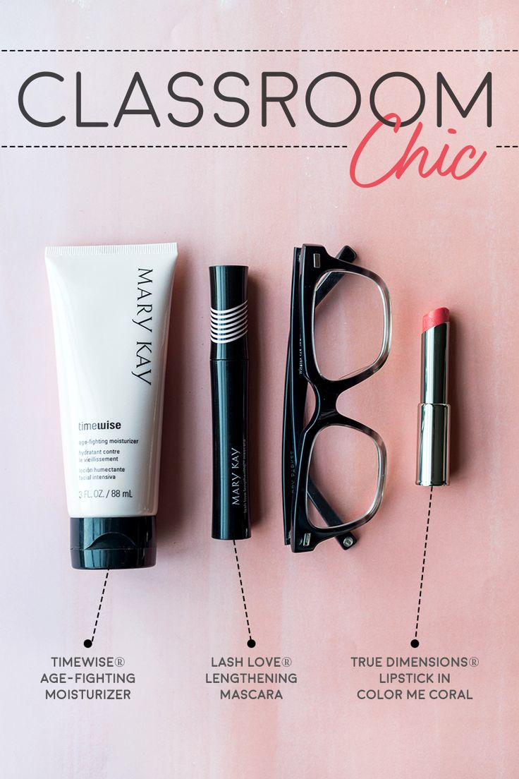Looking for makeup ideas for girls who wear glasses? Don't overdo it: Lipstick and mascara are all you need for a simple, sophisticated and beautiful look. | Mary Kay