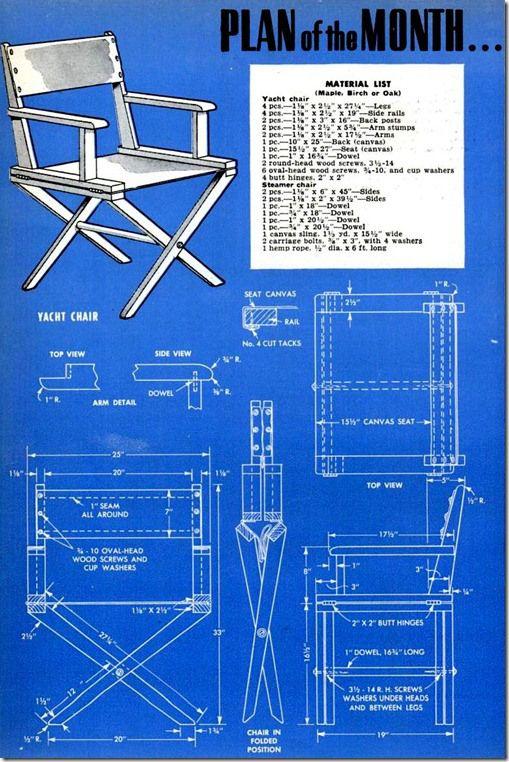 41 Best Folding Chair Plans Images On Pinterest