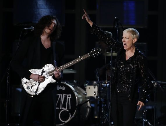 Why Annie Lennox Had the Best Grammys Performance -  Annie Lennox, the New Grammy Idol Younger pop stars should take note—a performer has to actually perform.