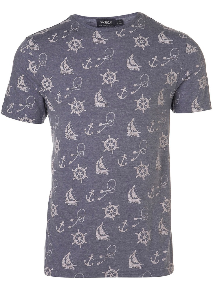 BLUE ANCHOR AND ROPE T-SHIRT - Topman Price: £18.00