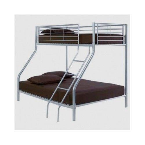Triple-Bunk-Bed-Kids-Children-Bedroom-Furniture-Metal-Ladder-Sleeper-Stairs-Loft