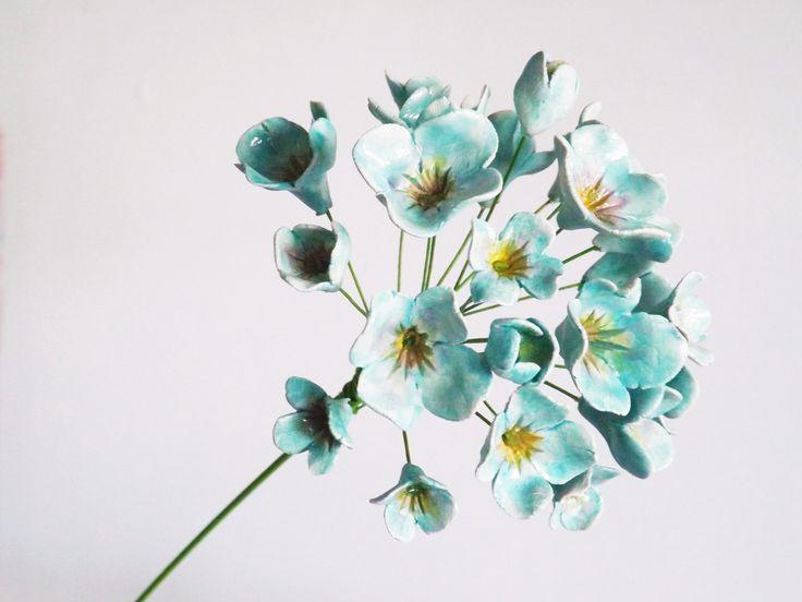 Ceramic hydrangea by Bron's Ceramics