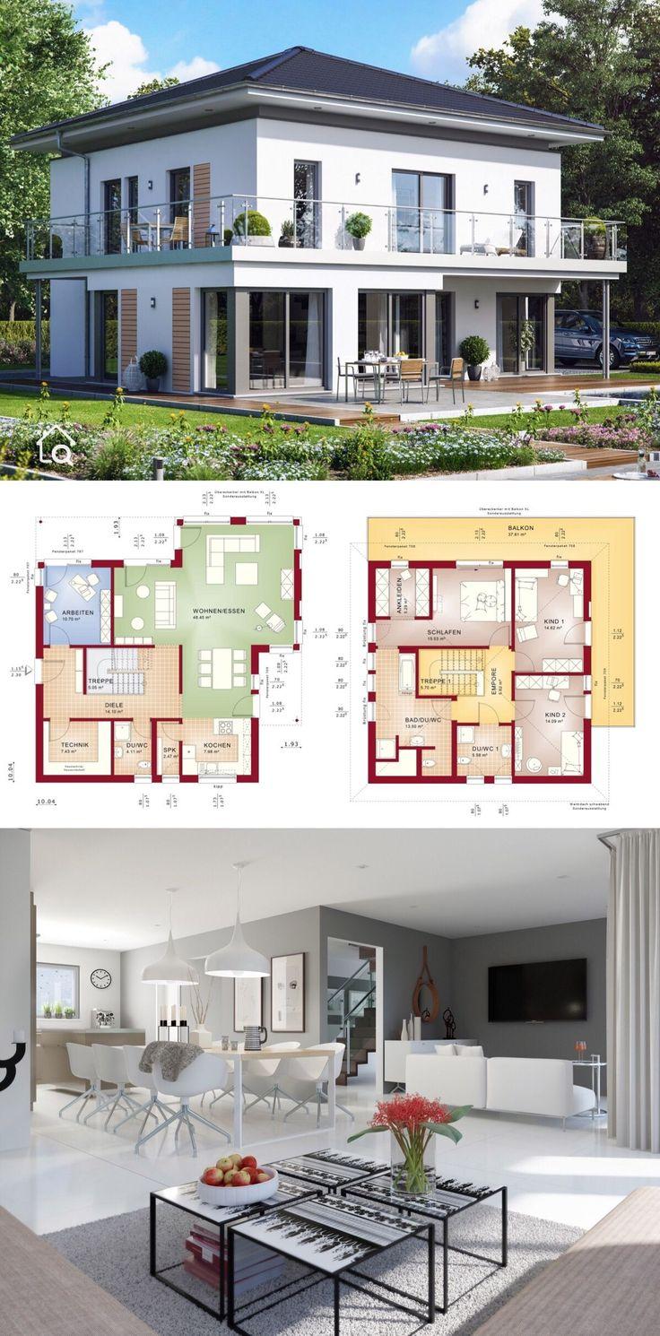 Einfamilienhaus Stadtvilla modern mit Walmdach, Er…