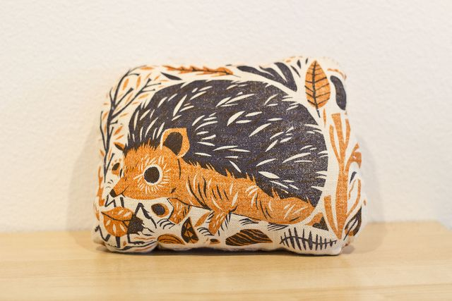 Meg Hunt hedgehog pillow