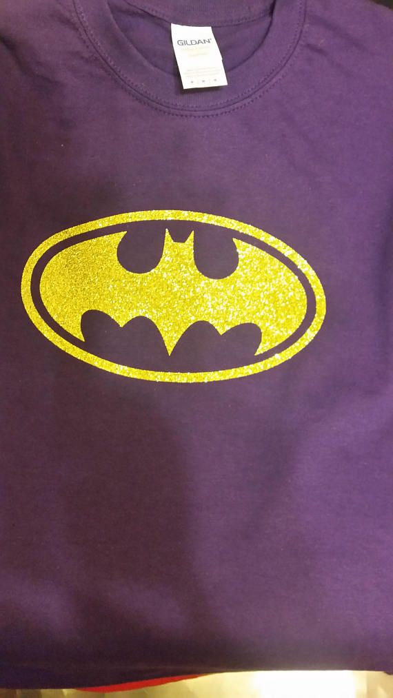 GLITTER!!! Batgirl Symbol T-Shirt - Infant Toddler Youth Adult Sizes Available