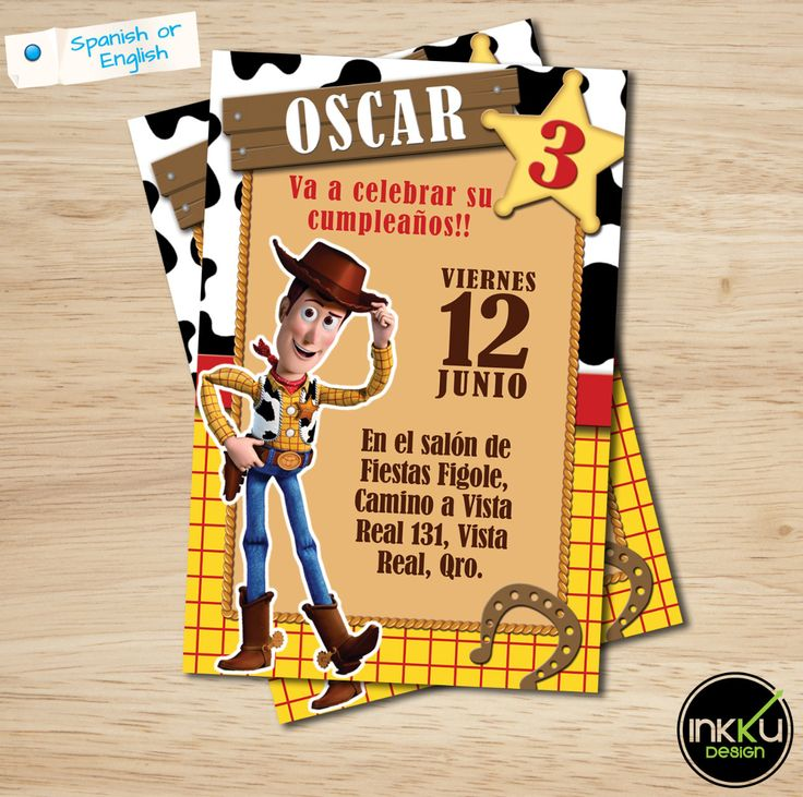 Toy Story Invite, Woody invitation, Toy Story Birthday Party Printable Invitation, Boys Party, Cowboy Invitation, Disney, Woody by InkkuDesign on Etsy
