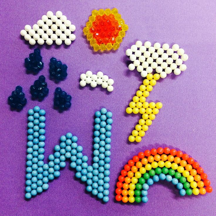 W is for weather aquabeads weather alphabet for Free beados templates