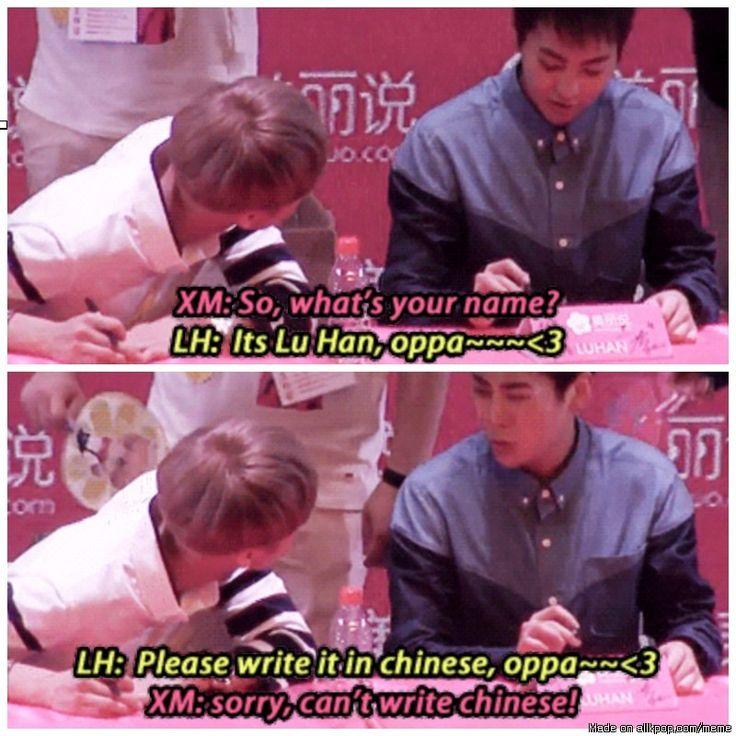 XiuHan funny moment! ^_^ | allkpop Meme Center