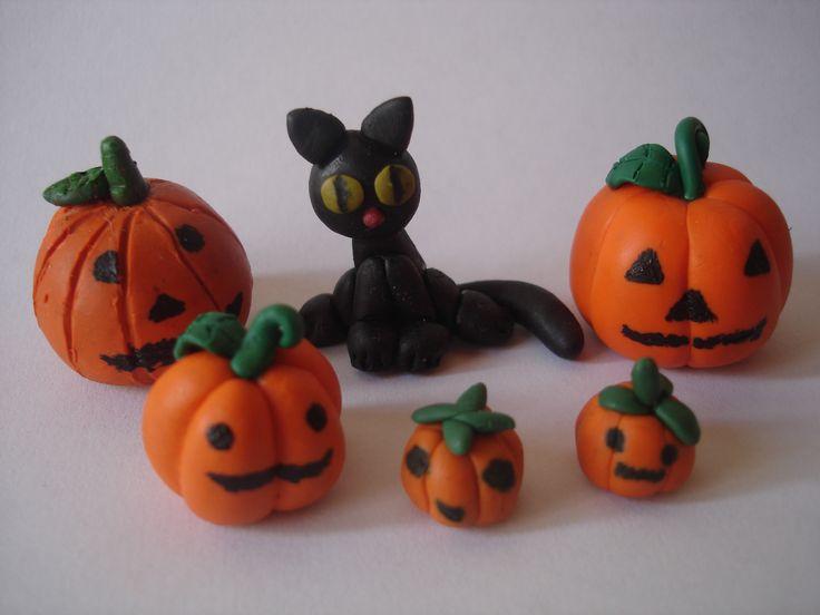 Halloween polymer clay. Halloween porcelanicroxn