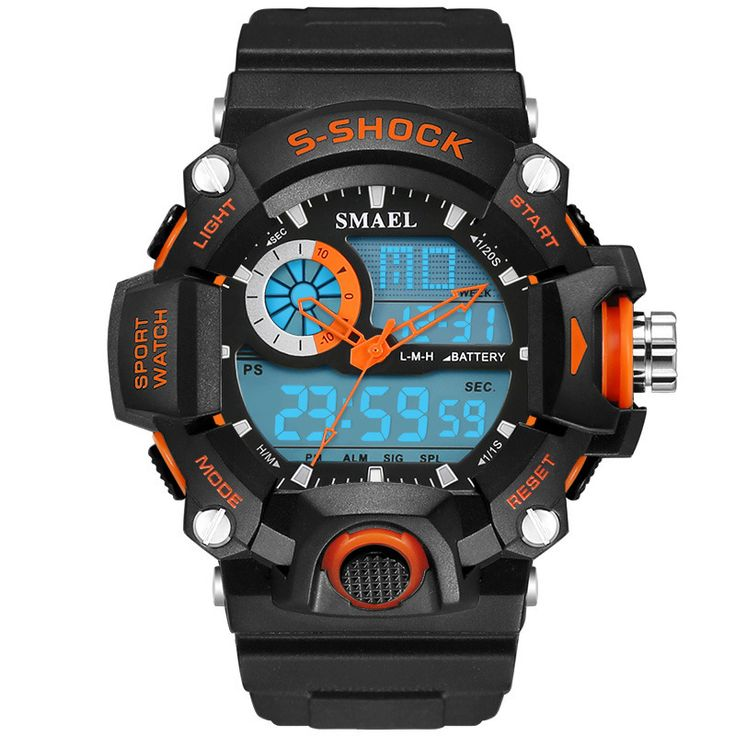 SMAEL Watches Men Military Army Mens Watch Reloj Electronic Led Sport Wristwatch Digital Male Clock 1385 S Shock Sport Watch Men