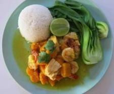 Recipe Golden Thai Pumpkin and Seafood Curry by Chantal Morgan - Recipe of category Main dishes - fish